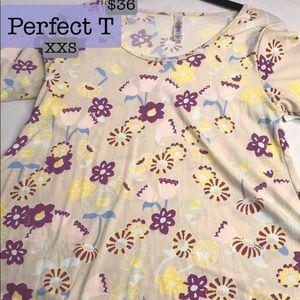 XXS LuLaRoe Perfect T Women's Top, NWT, floral!